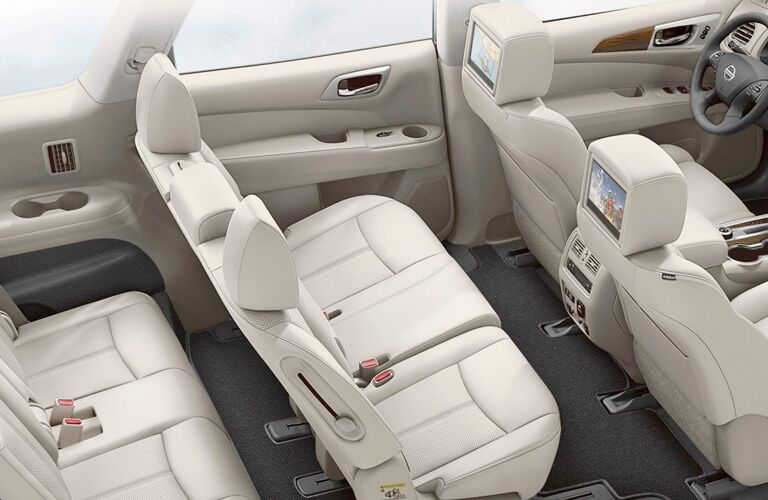 three rows of seating in 2019 pathfinder