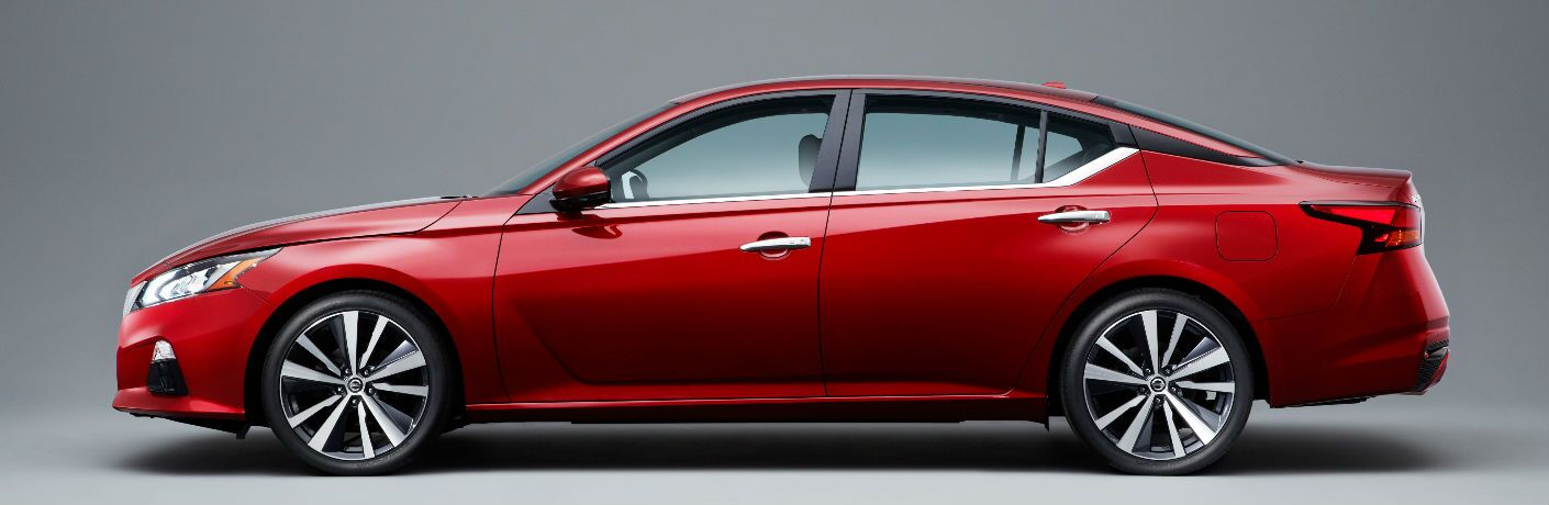 2019 Nissan Altima Side View of Red Exterior