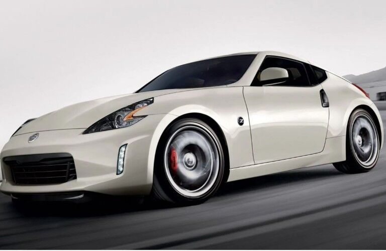 side view of a white 2020 Nissan 370Z Coupe