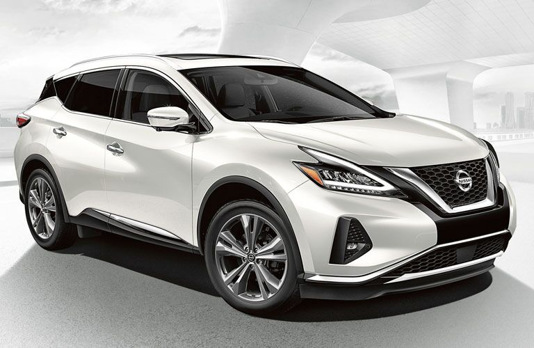 front view of a white 2020 Nissan Murano