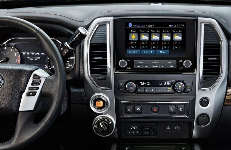 dashboard of 2020 Nissan Titan