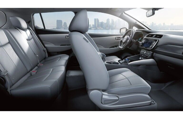 2020 Nissan Leaf Seats front and back row