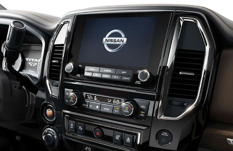 2020 Nissan TITAN XD touchscreen display