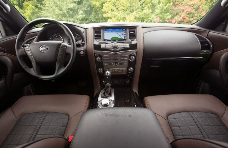 front interior of 2020 Nissan Armada