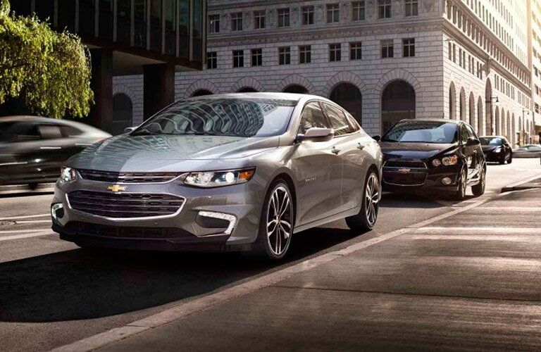 2017 Chevy Malibu front side view