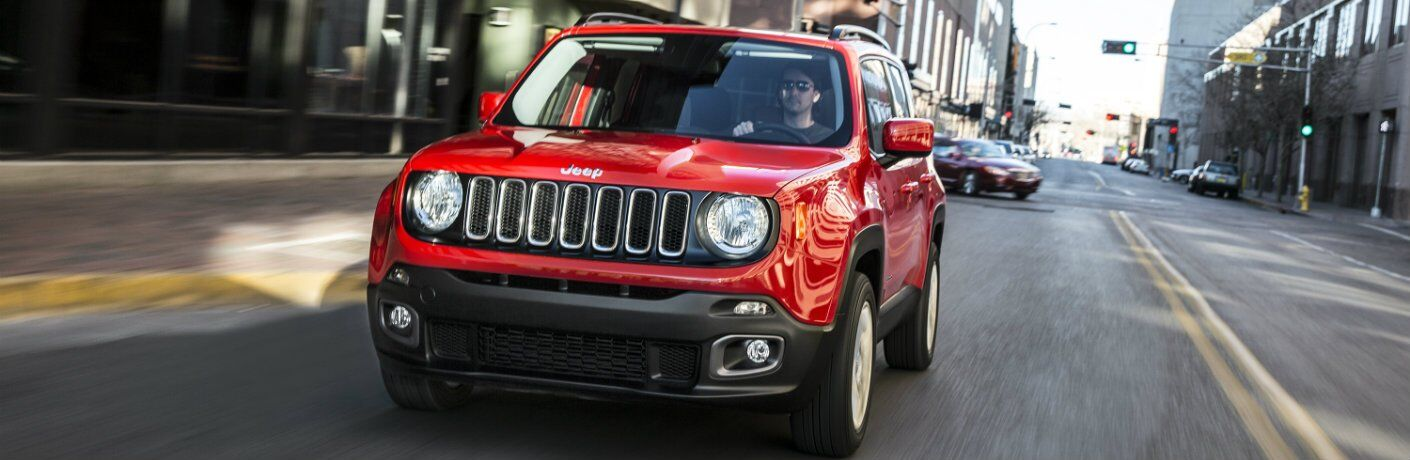 Used 2017 Jeep renegade in red
