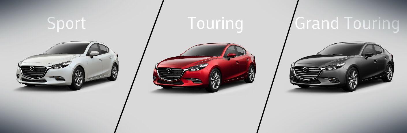2017 Mazda3 Sport vs Touring vs Grand Touring