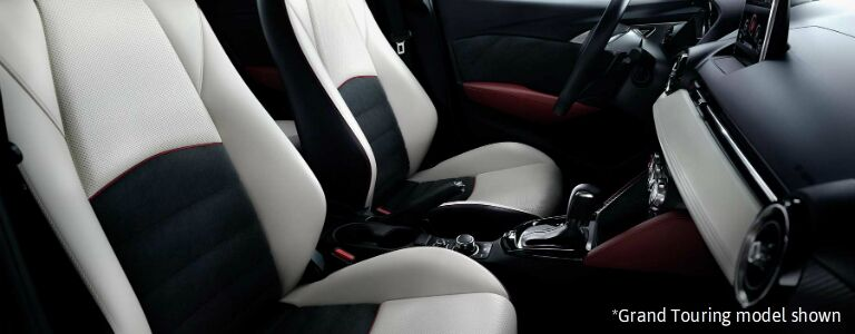 2017 mazda cx-3 leather seats with suede inserts