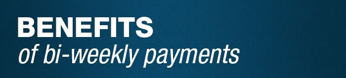 Benefits of Coastal Chevrolet's bi-weekly payment plan