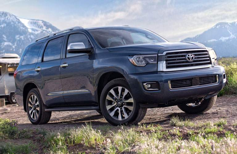gray toyota sequoia parked on dirt