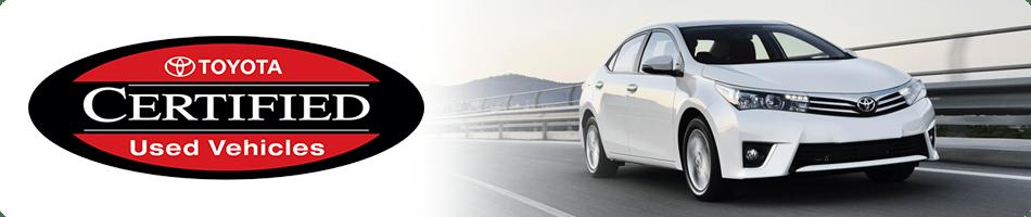Toyota Certified Used Vehicles in La Crescenta, CA