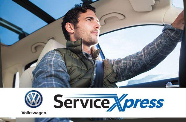 Man visiting Service Xpress lane at Highland Volkswagen