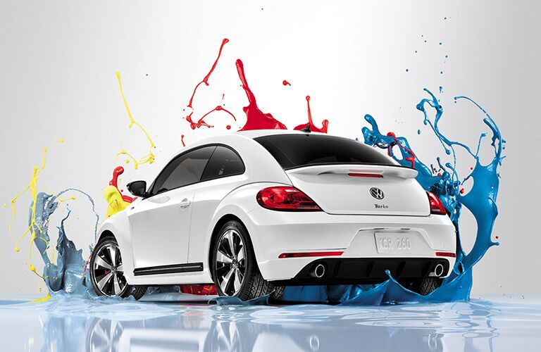 The 2016 VW Beetle getting splashed with paint
