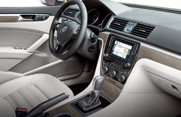 Front dash of 2017 Volkswagen Passat with VW Car-Net App-Connect infotainment system
