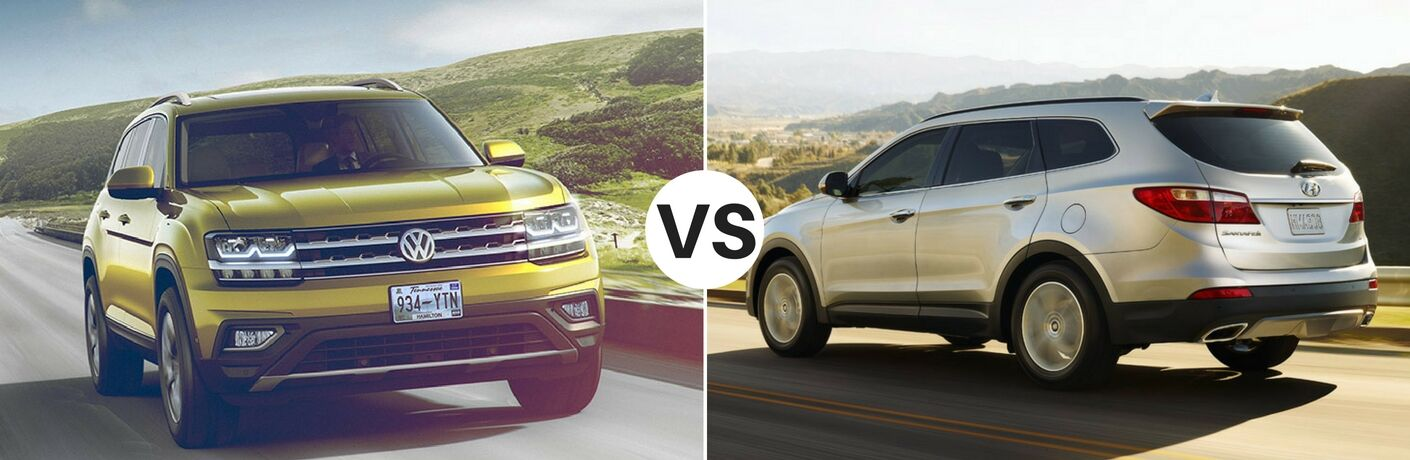 2018 Volkswagen Atlas vs 2017 Hyundai Santa Fe