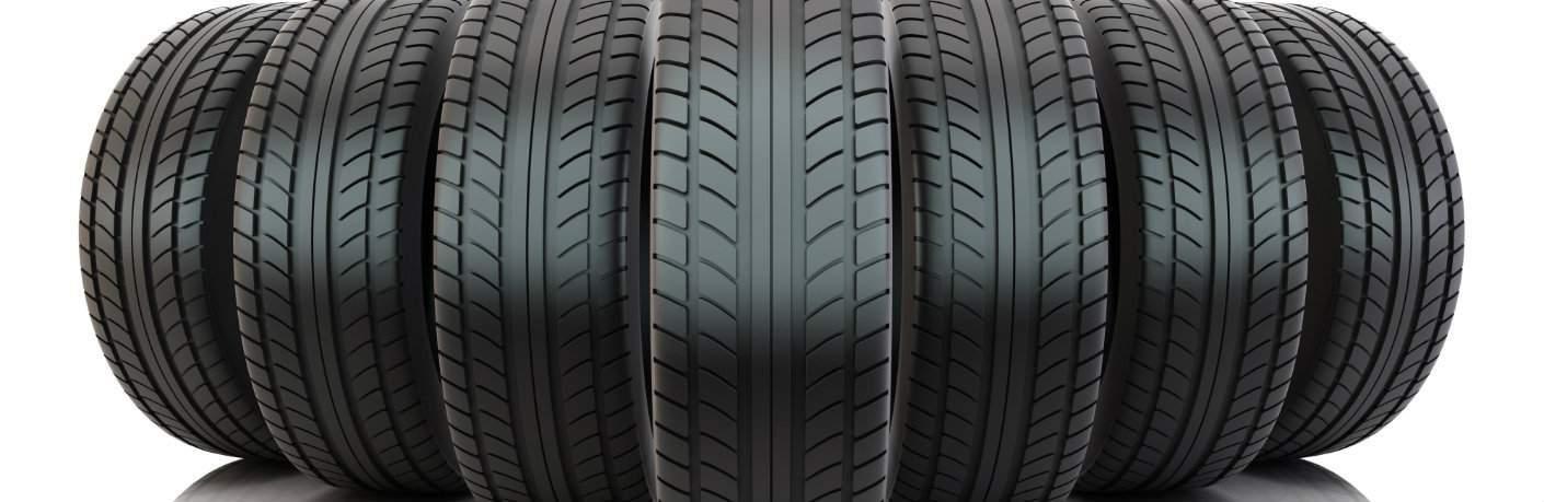 Line of tires for Volkswagen tire replacements at Atlantic Volkswagen in West Islip, NY