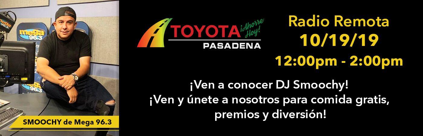 Smoochy de Mega 96.3 estará en Toyota Pasadena el sábado 19 de octubre