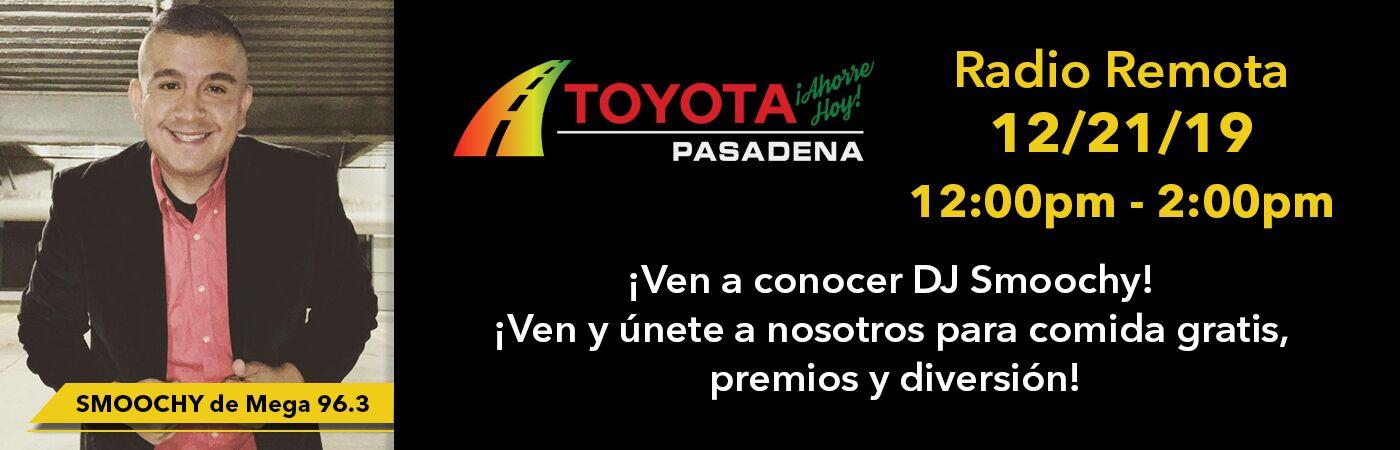 Smoochy de Mega 96.3 estara en Toyota Pasadena el sabado 21 de diciembre para divertirse en familia