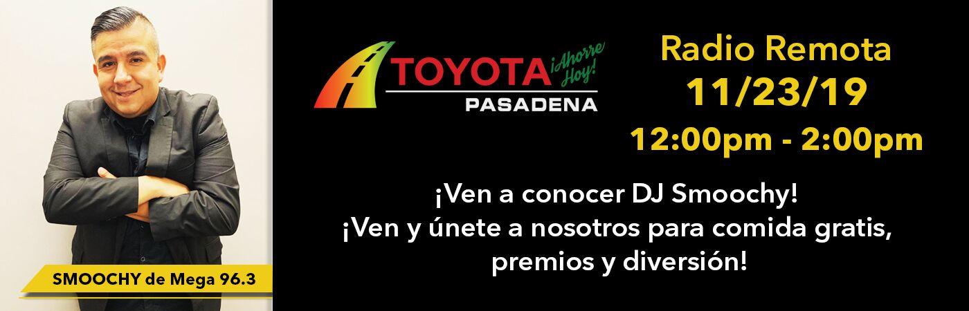 Smoochy de Mega 96.3 estara en Toyota Pasadena el sabado 23 de noviembre para divertirse en familia