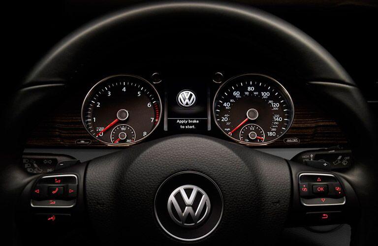 2017 Volkswagen CC front interior instrument cluster