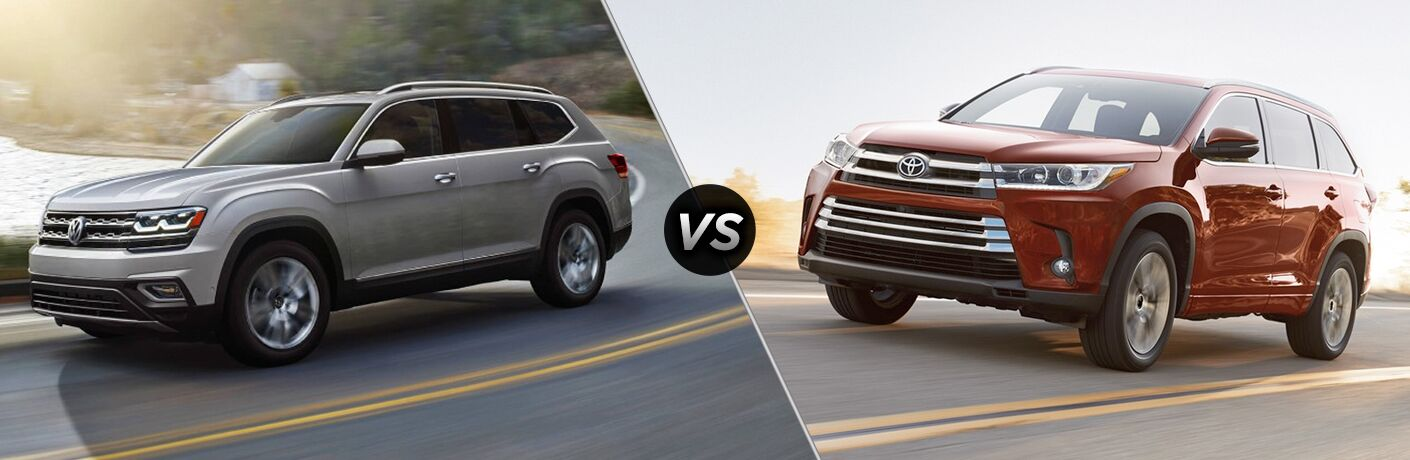 2018 Volkswagen Atlas vs 2018 Toyota Highlander comparison image