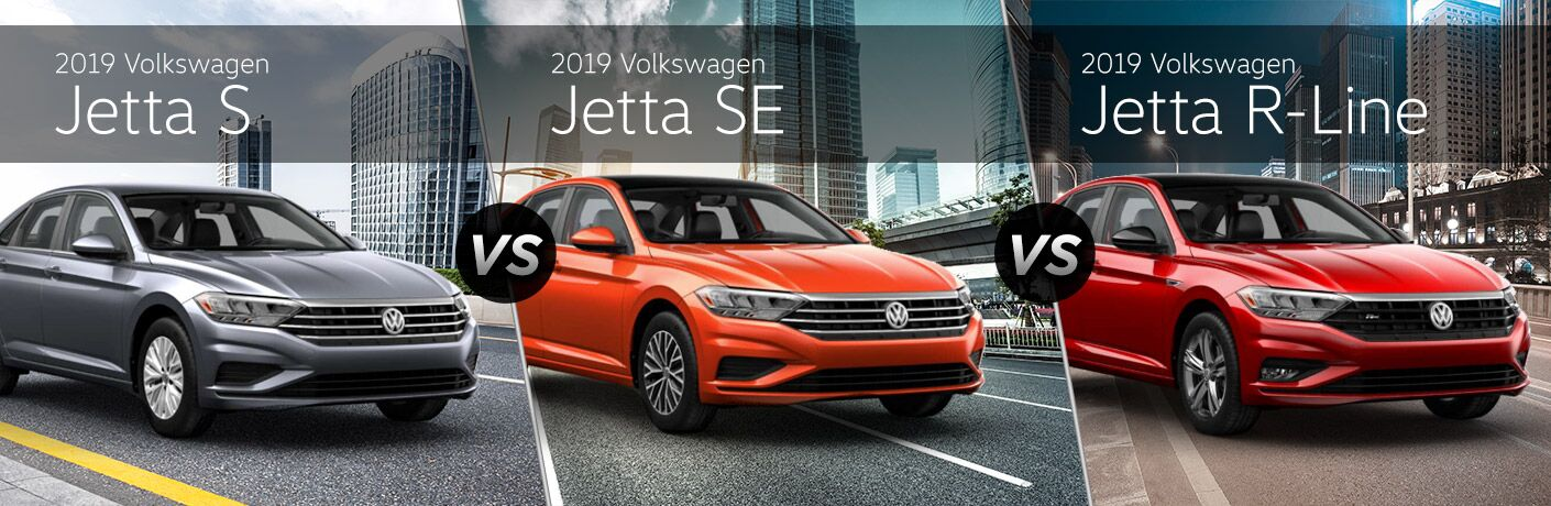 2019 Volkswagen Jetta S vs SE vs R-Line comparison image