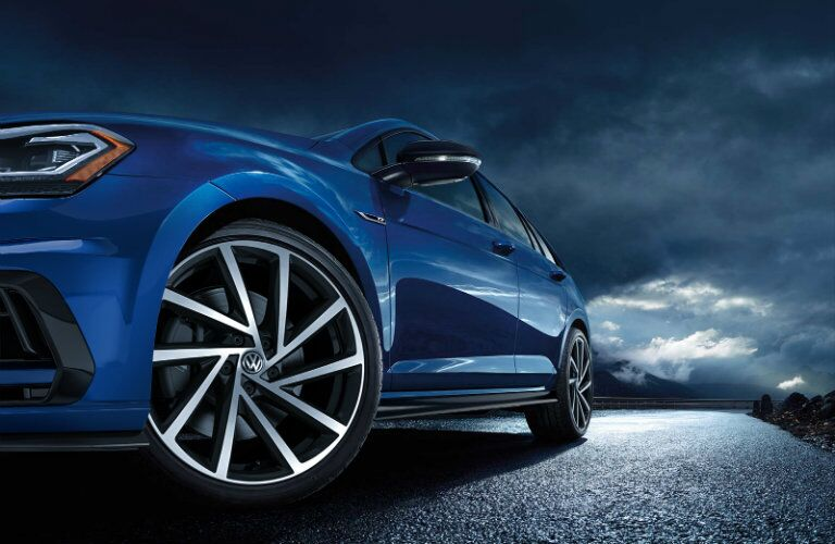 Driver side wheels of 2019 Volkswagen Golf R