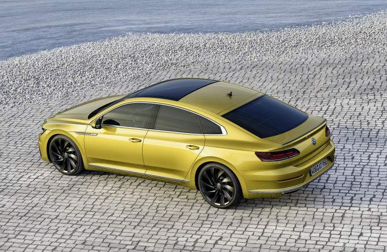 The sporty performance of the Arteon is evident in the car's slick exterior design