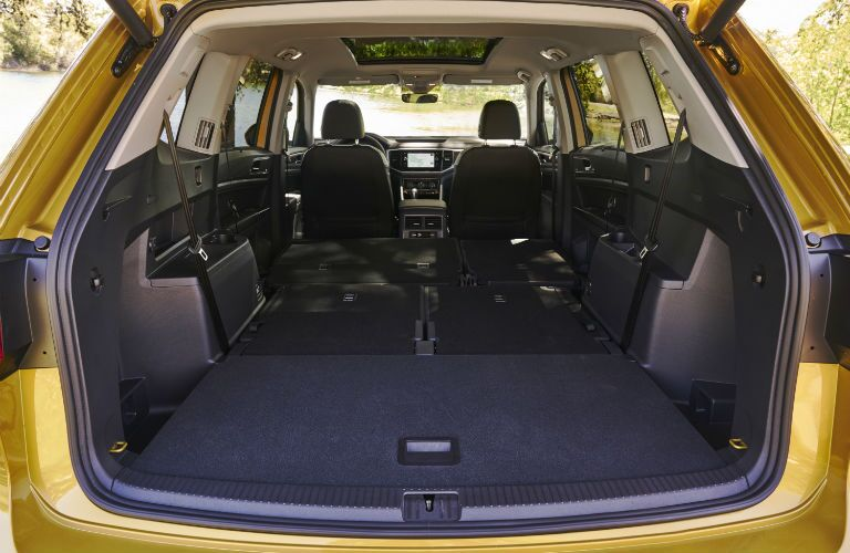 rear cargo area of the 2018 Volkswagen Atlas