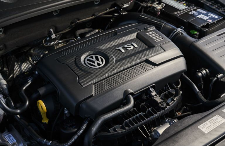 A photo of the engine used by the 2019 VW Golf GTI.