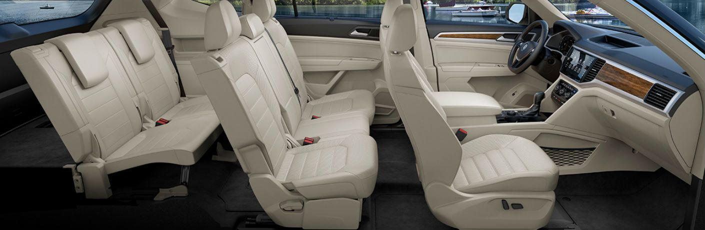A cut away photo revealing the seating options in the 2020 Atlas.