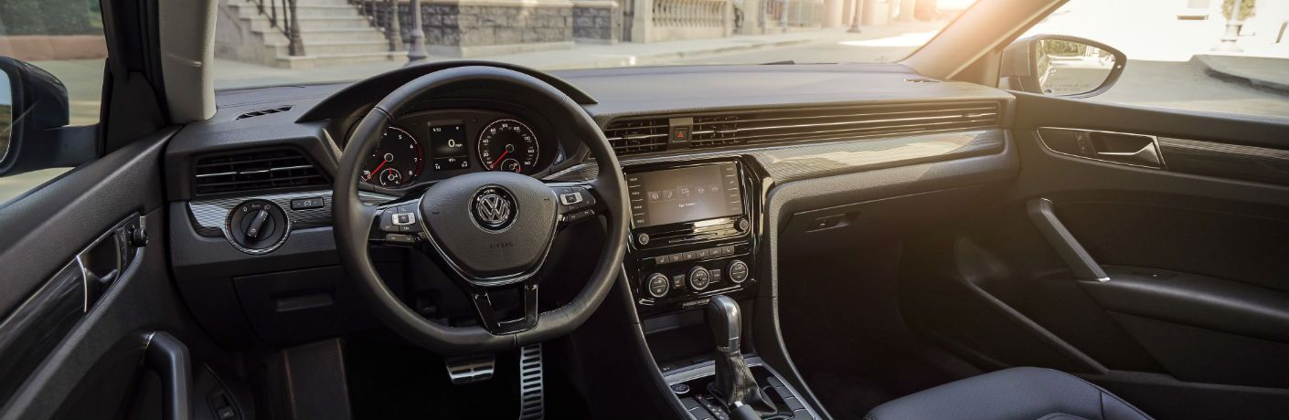 A photo of the dashboard in the 2020 Volkswagen Passat.