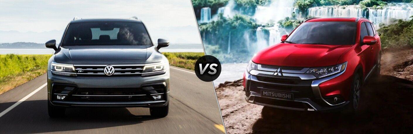 A side-by-side comparison of the 2020 Volkswagen Tiguan vs. 2020 Mitsubishi Outlander.