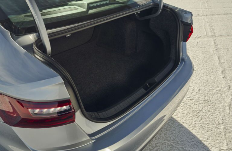 A photo of the trunk used by the 2021 Volkswagen Jetta.