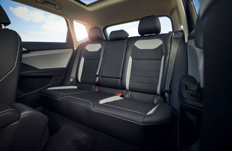 A photo of the rear seats in the 2022 Volkswagen Taos.