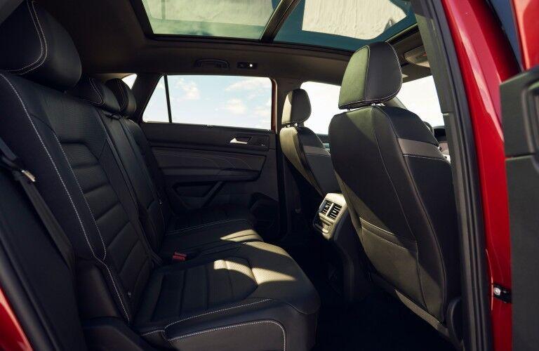 The rear seats in the 2021 Volkswagen Atlas Cross Sport.