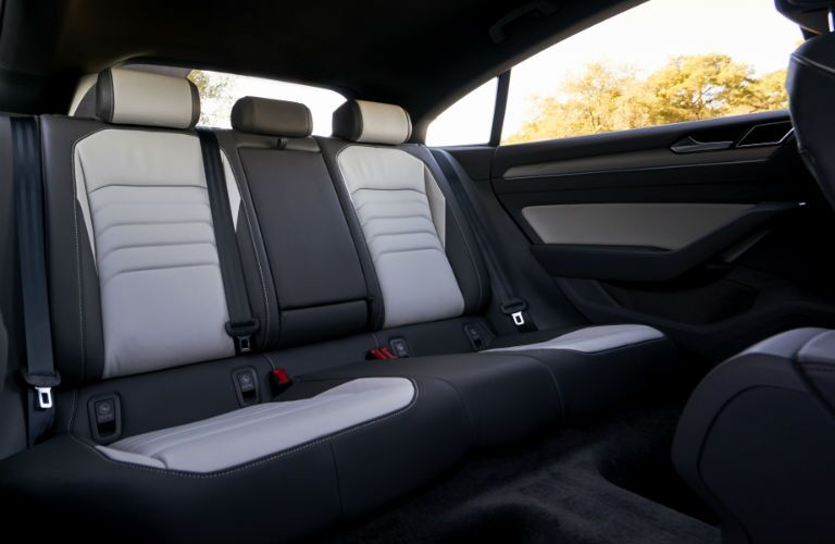 A photo of the rear seats of the 2019 VW Arteon.