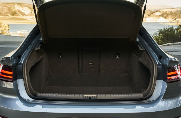 A photo of the trunk space in the 2019 VW Arteon.