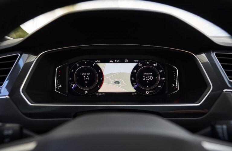 The VW Digital Cockpit display in the 2022 VW Tiguan.