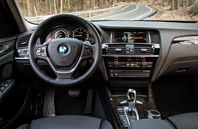 Used BMW X3 sporty interior technology