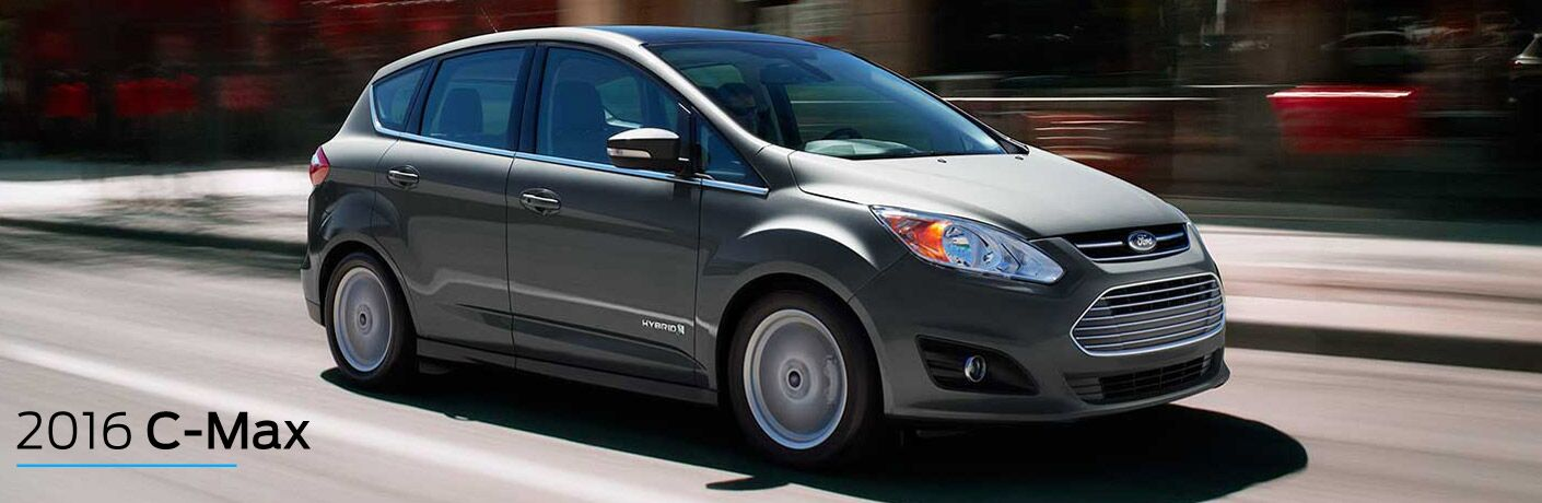 gray 2016 Ford C-Max Hybrid exterior side