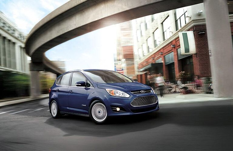 blue 2016 Ford C-Max Hybrid exterior side