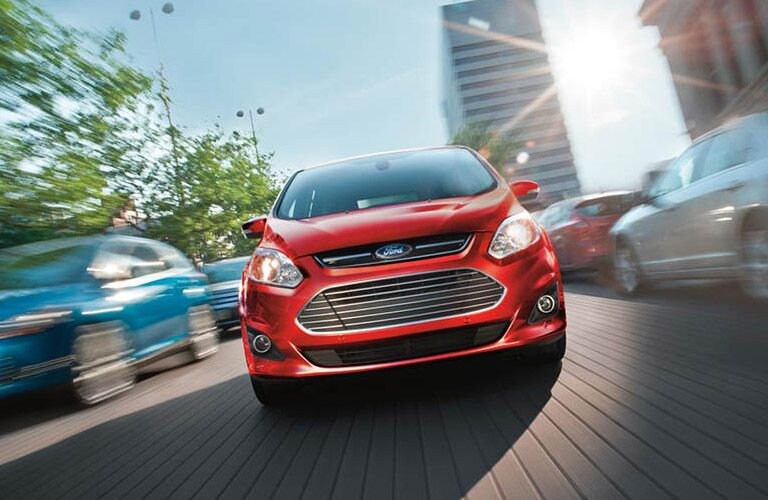 red 2016 Ford C-Max Hybrid exterior front