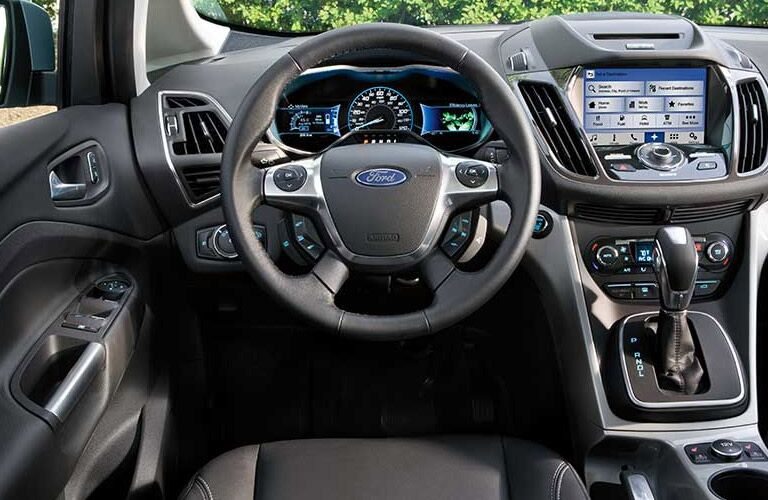 2016 Ford C-Max Hybrid interior steering wheel and dashboard