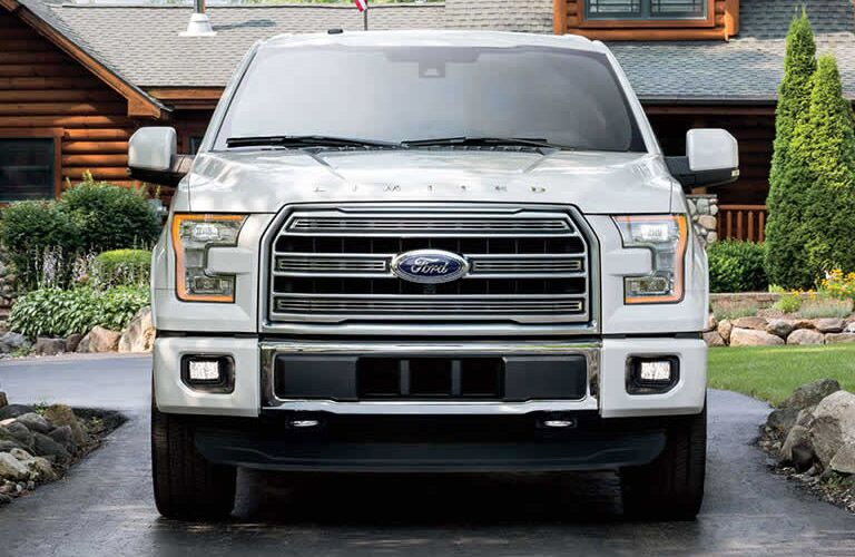 white 2016 Ford F-150 front