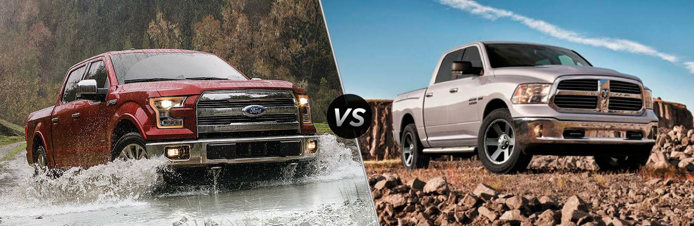 2016 Ford F-150 2016 Ram 1500 exteriors