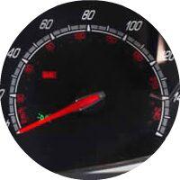 2016 Ford Fiesta speedometer