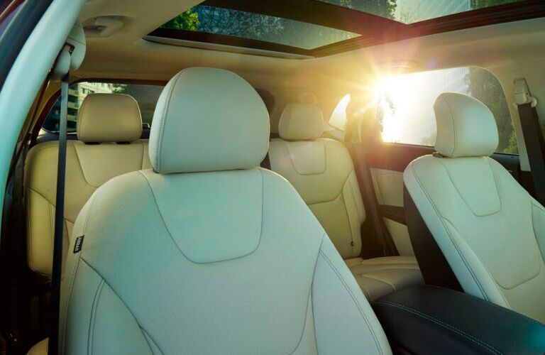 2017 Ford Edge interior seats and sunroof