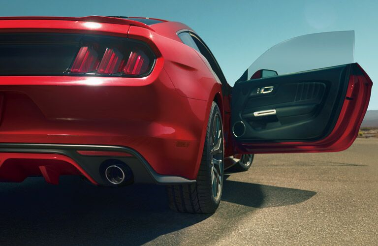 red 2017 Ford Mustang exterior rear