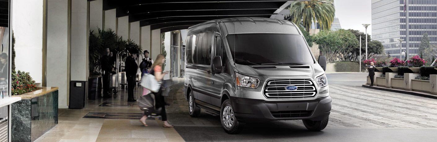 2017 Ford Transit picking up passengers